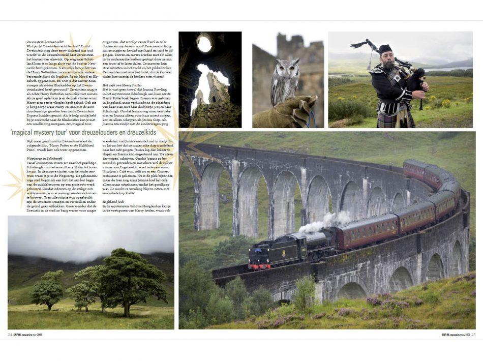 Harry Potter reportage in SNP Magzine (Tekst & Beeld Lex van den Bosch)