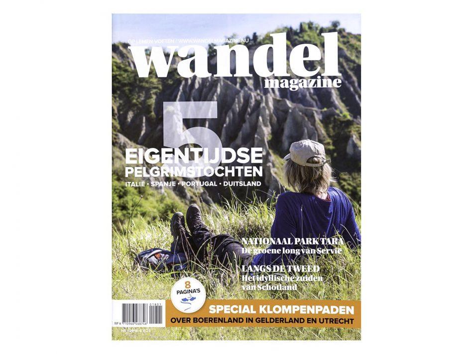 Voorkant en verhaal in het Wandelmagazine over pelgrimroute in Italië (Tekst & Beeld Lex van den Bosch)