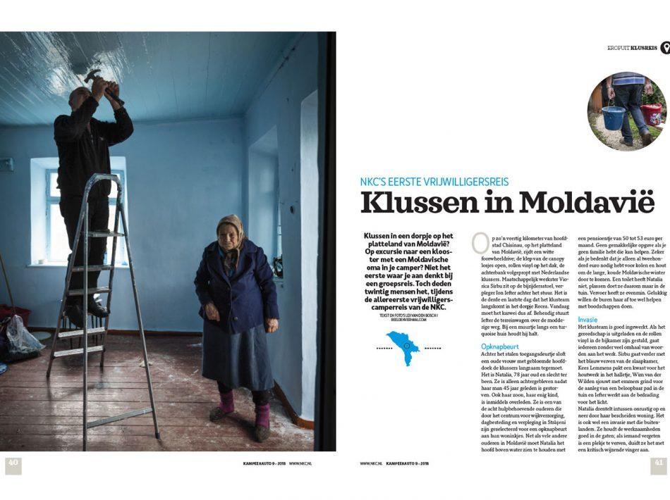 Vrijwilligersvakantie in Moldavië, gepubliceerd in magazine van NKC Nederlandse Kampeerauto Club (Tekst & Beeld Lex van den Bosch)