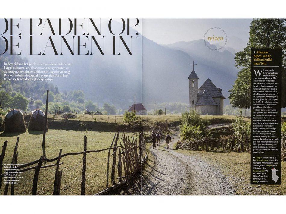 Albanië Teth vallei, gepubliceerd in FD Persoonlijk - Het Financieele Dagblad (Tekst & Beeld Lex van den Bosch)